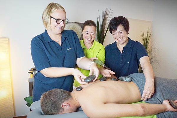 Hot Stone Massage Physiotherapie Stefan Heck